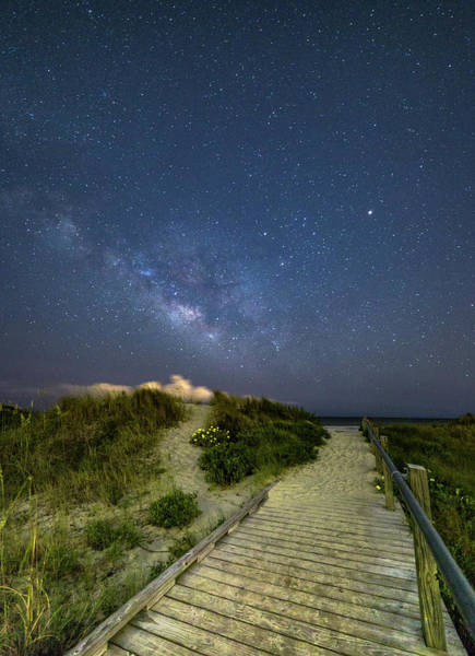 Photograph - Sullivan's Island Nightscape by Donnie Whitaker