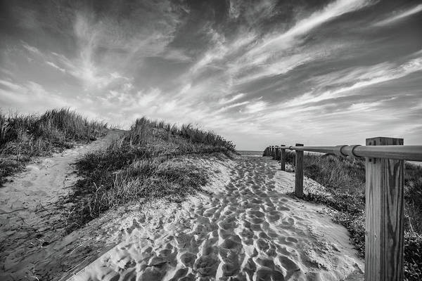 Photograph - Sullivan's Island Station 18 1/2 Black And White by Donnie Whitaker