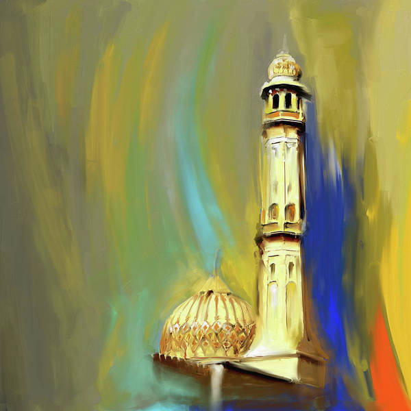 Wall Art - Painting - Sultan Qaboos Grand Mosque 681 1 by Mawra Tahreem