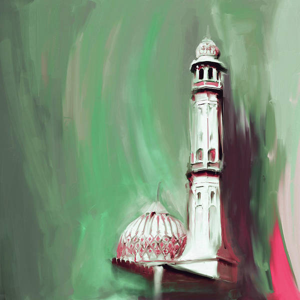 Wall Art - Painting - Sultan Qaboos Grand Mosque 681 3 by Mawra Tahreem