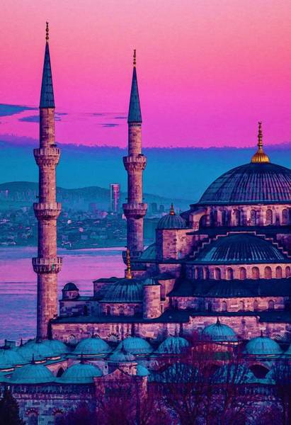 Painting - Sultanahmet, Istanbul Turkey In Watercolor by Celestial Images