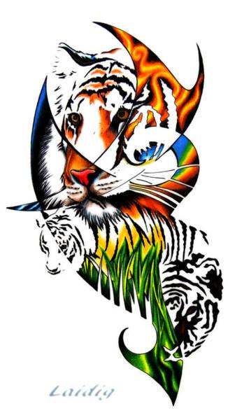 Sumatran Drawing - Sumatran Tiger Bomb by Aarron  Laidig
