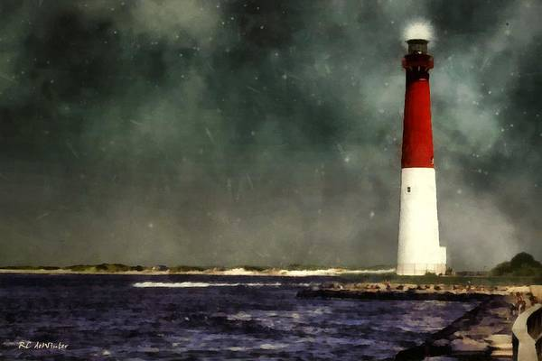 Painting - Summer Night At The Shore by RC DeWinter