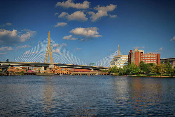 Wall Art - Photograph - Summer Afternoon At Zakim Bridge by Rick Berk