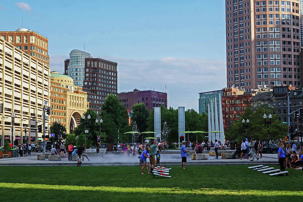 Photograph - Summer Afternoon  On The Greenway Downtown Boston Atlantic Ave by Toby McGuire