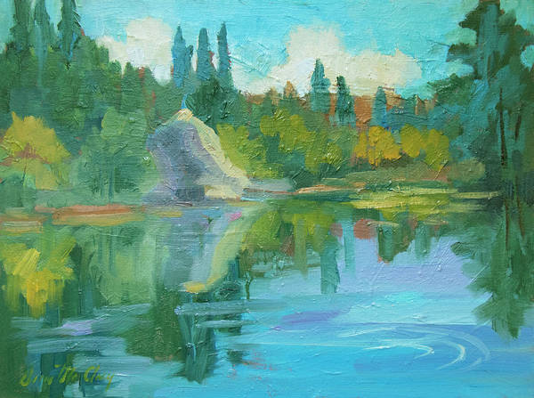 Wall Art - Painting - Summer At Lake Fulmor by Diane McClary