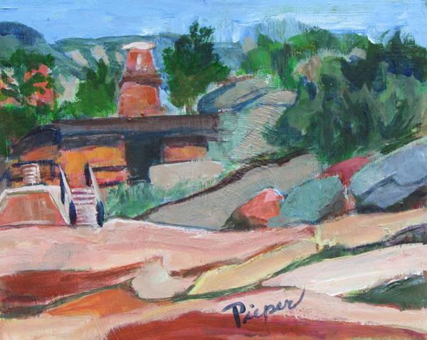 Oak Creek Canyon Painting - Summer At Slide Rock Park Arizona by Betty Pieper