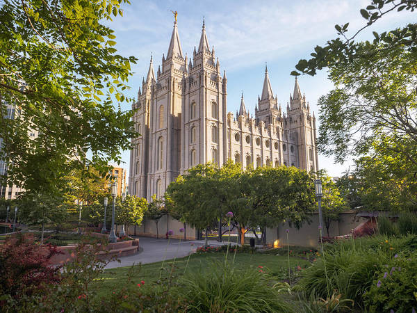 Photograph - Summer At Temple Square by Emily Dickey