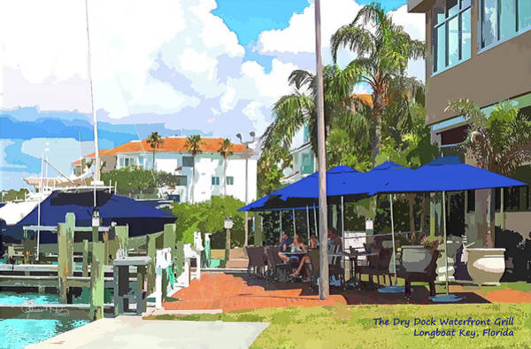 Photograph - Summer At The Dry Dock Restaurant by Susan Molnar