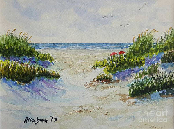Painting - Summer Beach by Stanton Allaben