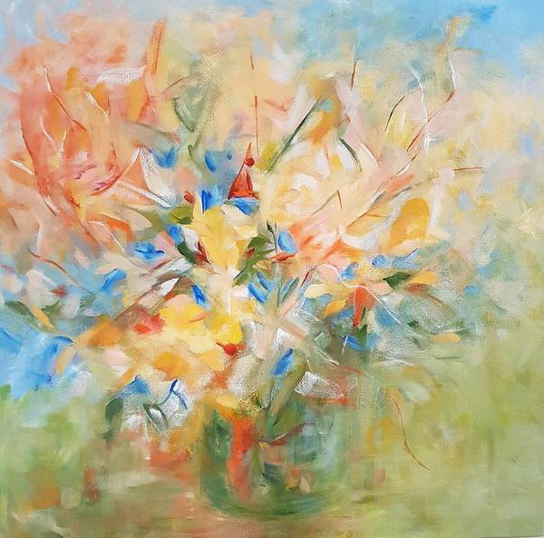 Painting - Summer Blooms by Joanne Smoley
