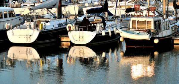 Wall Art - Photograph - Summer Boat Reflections by Terence Davis