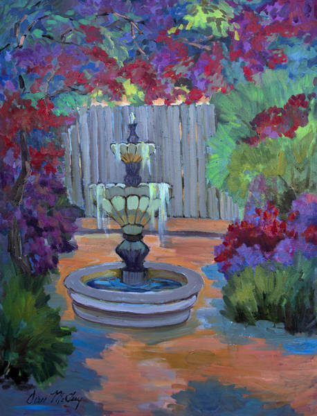 Wall Art - Painting - Summer Bougainvillea by Diane McClary