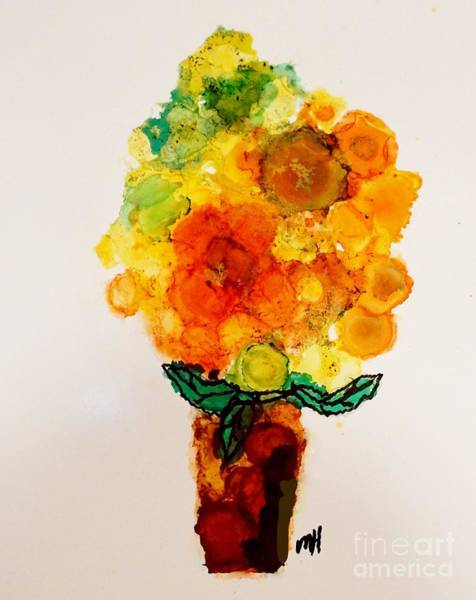 Wall Art - Painting - Summer Bouquet by Marsha Heiken