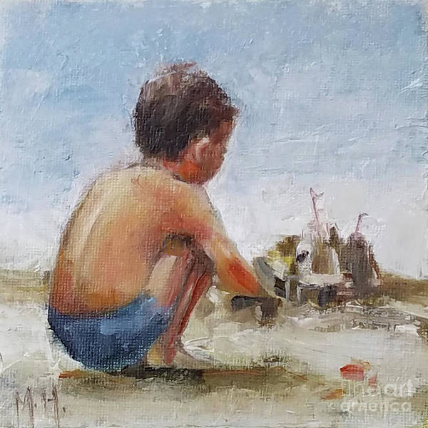 Sand Castle Painting - Summer Castle by Mary Hubley