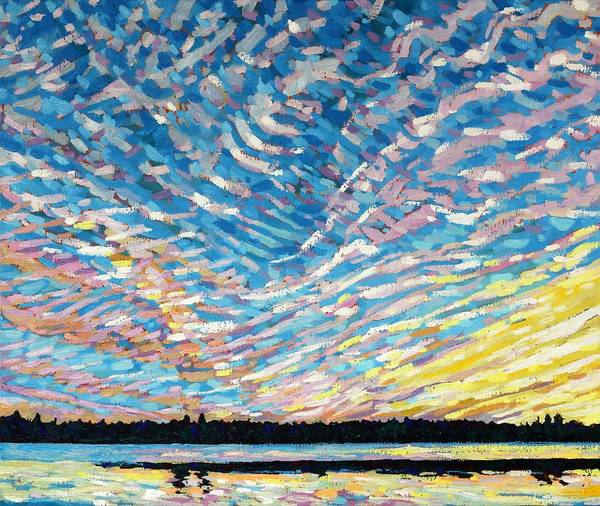 Wall Art - Painting - Summer Cirrus by Phil Chadwick
