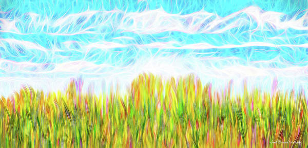 Digital Art - Summer Clouds Streaming by Joel Bruce Wallach