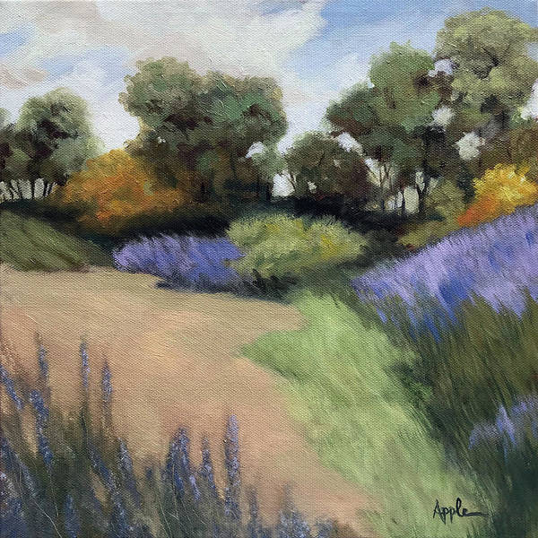 Wall Art - Painting - Summer Color - Rural Landscape Oil Painting by Linda Apple