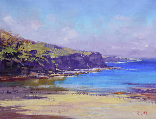 Coastal Scene Painting - Summer Colors by Graham Gercken