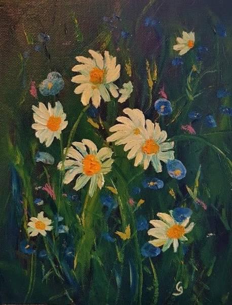Painting - Summer Daisies         36 37      by Cheryl Nancy Ann Gordon