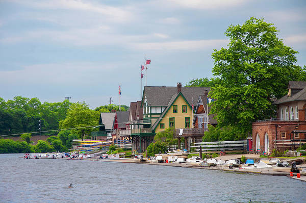 Photograph - Summer Day At Boathouse Row by Bill Cannon