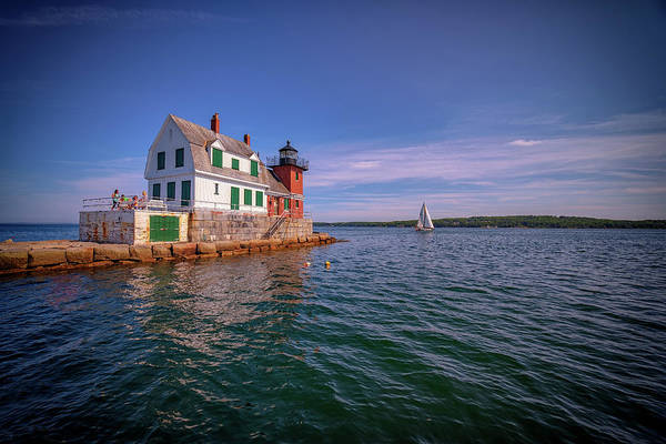Photograph - Summer Day At Rockland Breakwater by Rick Berk