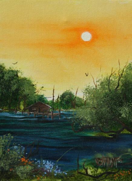 Summer Day At The Lake Art Print