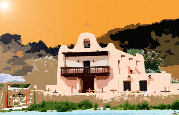 Pueblo Painting - Summer Day by David Lee Thompson