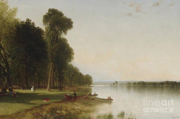 Upstate New York Painting - Summer Day On Conesus Lake, 1870 by John Frederick Kensett