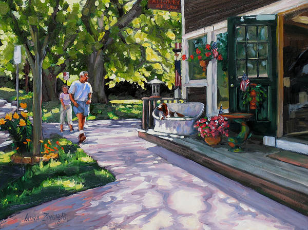 Wall Art - Painting - Summer Day On The Cape by Laura Lee Zanghetti
