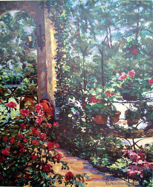 Wall Art - Painting - Summer Day On The Piazza by Kay Hamilton Gaitland