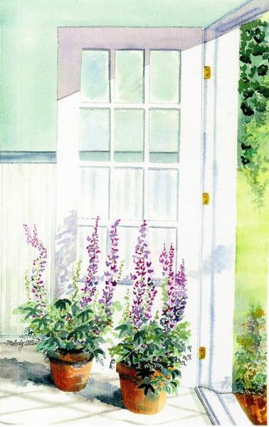 Wall Art - Painting - Summer Door  by Melody Allen