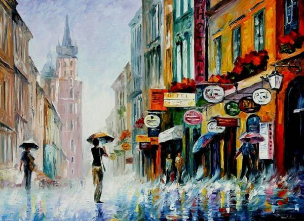 Leonid Wall Art - Painting - Summer Downpour by Leonid Afremov