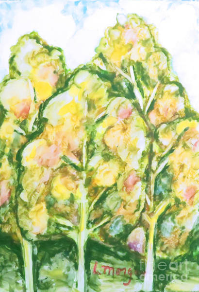 Painting - Summer Fantasy Foliage by Laurie Morgan