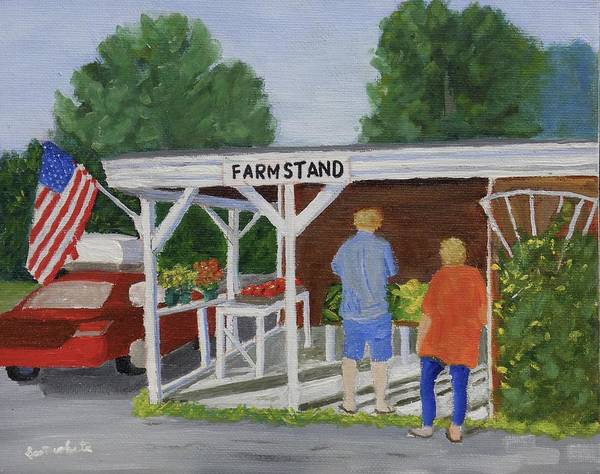 Summer Farm Stand Art Print