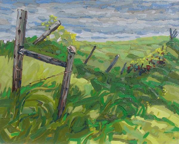 Wall Art - Painting - Summer Fence by Phil Chadwick