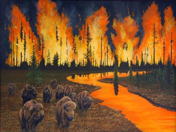 Wall Art - Painting - Summer Fire by Steve Wilson