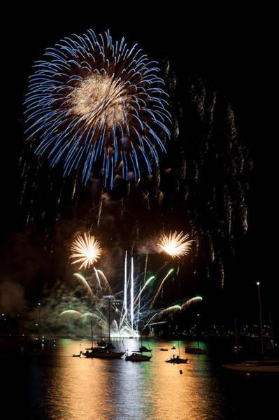 Photograph - Summer Fireworks I by Helen Northcott
