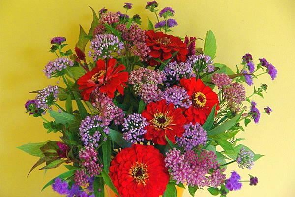 Photograph - Summer Flower Bouquet by Byron Varvarigos