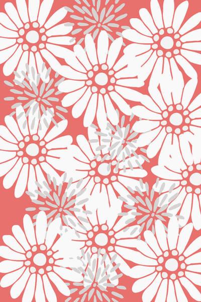 Digital Art - Summer Flowers Red by Maria Heyens