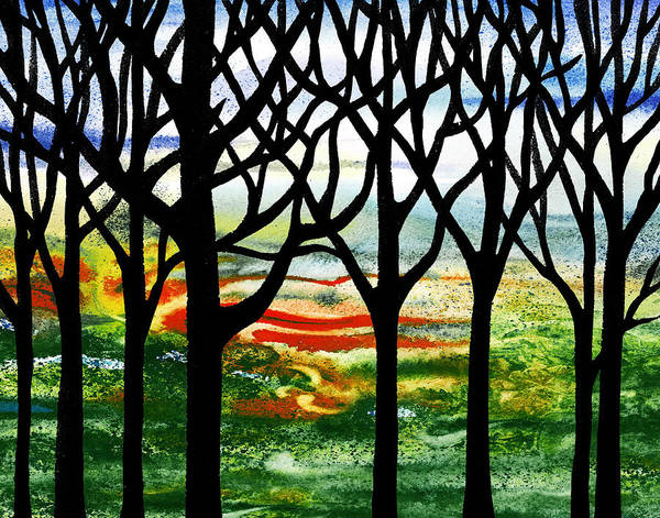 Into The Woods Wall Art - Painting - Summer Forest Abstract  by Irina Sztukowski