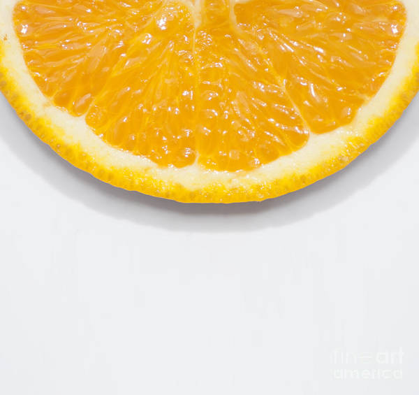 Orange Photograph - Summer Fruit Orange Slice On Studio Copyspace by Jorgo Photography - Wall Art Gallery