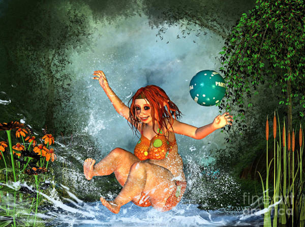 Digital Art - Summer Fun by Jutta Maria Pusl