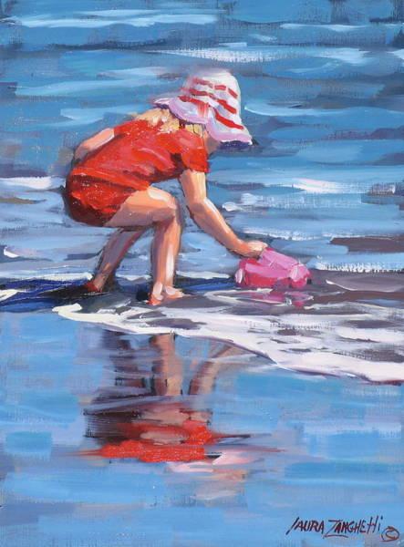 Wall Art - Painting - Summer Fun by Laura Lee Zanghetti
