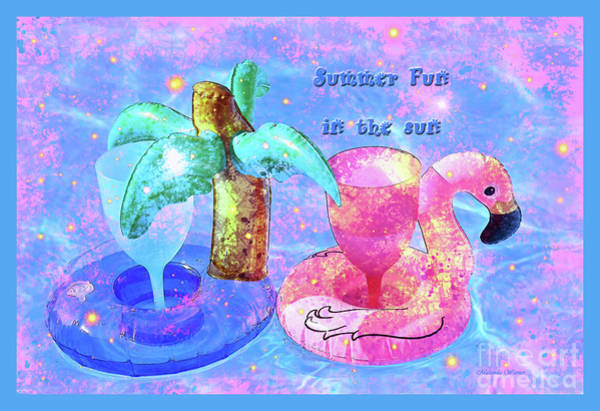 Swimming Pool Mixed Media - Summer Fun by Malanda Warner
