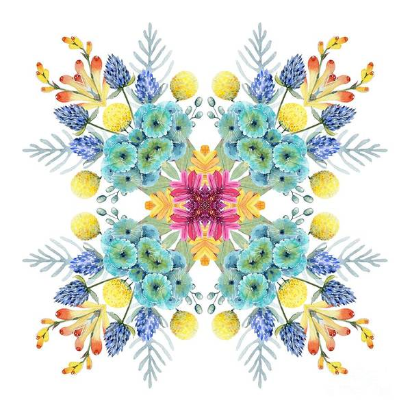 Wall Art - Digital Art - Summer Garden Pattern by Mary Machare