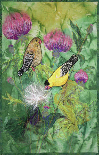 Tapestry - Textile - Summer Goldfinch by Pat Dolan