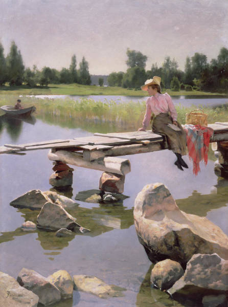 Picnic Basket Wall Art - Painting - Summer by Gunnar Berndtson
