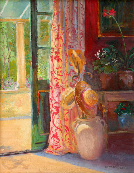 Conservatory Wall Art - Painting - Summer Hats by William Ireland