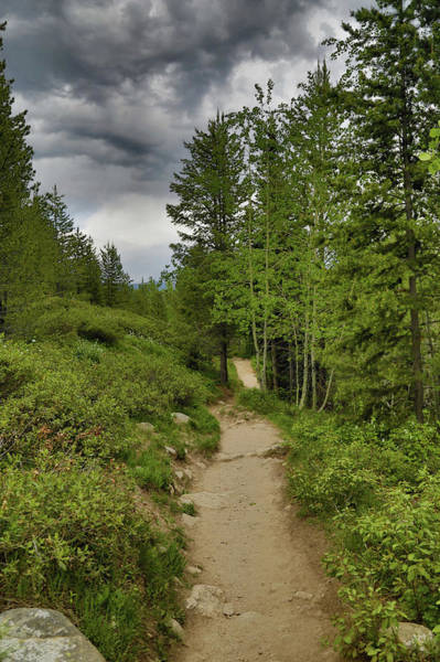 Photograph - Summer Hike And Storm Clouds by Dan Sproul
